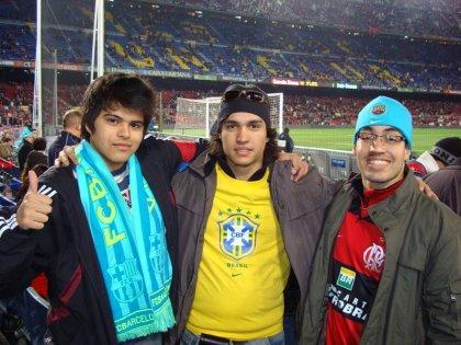 Camilo, Lucas e eu - Camp Nou - Barca 0 x 1 Real
